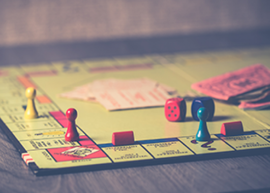 photograph of a Monopoly board