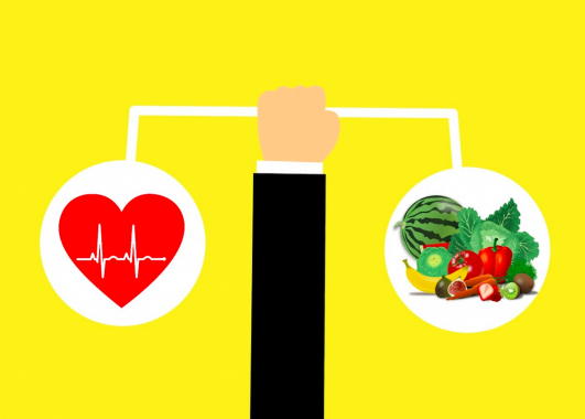 Heart rate and healthy foods