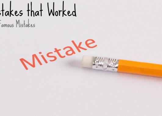 the word mistake in red print with a yellow pencil and eraser